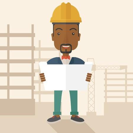 Cartoon contractor