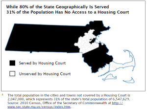 Map from the Report Advocating Expansion of Housing Court