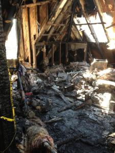 burned out attic