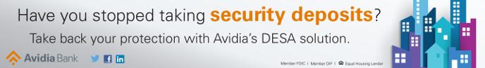 Avidia Banner DESA Security Deposits