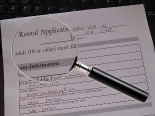 Rental Application under Magnifying Glass