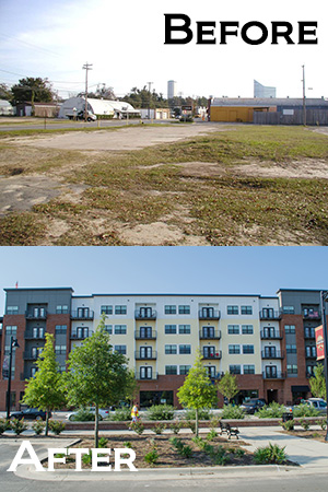 brownfield before and after in Tallahassee
