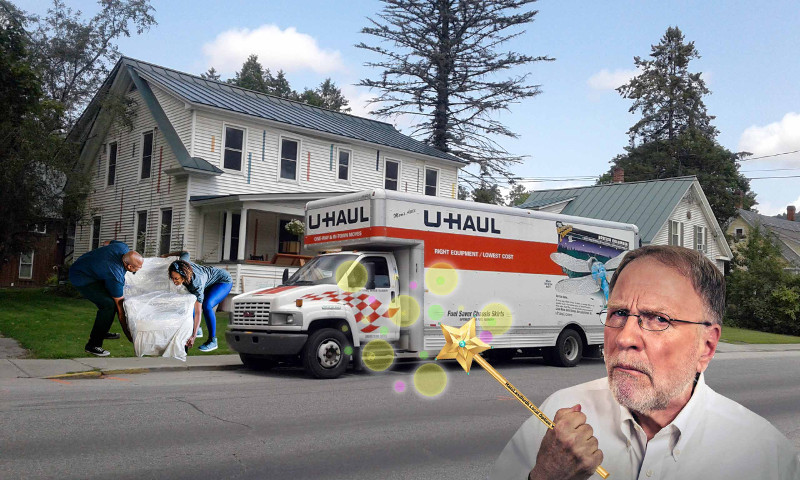 local option wand used to deny poor a household, who are moving out and loading a u-haul truck