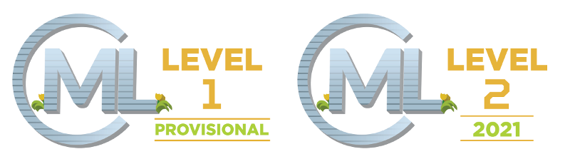 logos for cML Level 1 Provisional and Level 2 2021