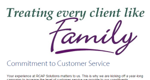 RCAP Solutions treating everyone like family