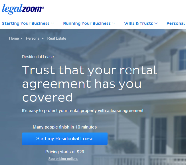Review Of Legalzoom For Massachusetts Lease Form Masslandlords