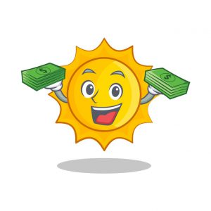 sun holding up free money