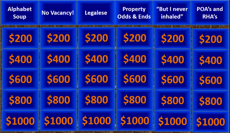 trivia in the style of jeopardy!